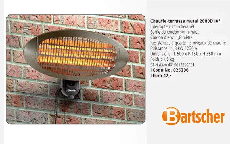 Bartscher Caleffación eléctrica para terraza Calefacción de exterior Jardín Diverso  |