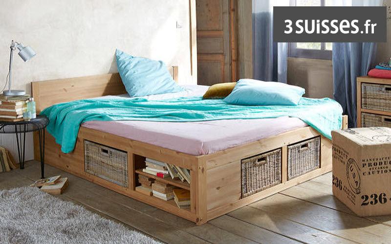 3 Suisses Cama con cajones Camas individuales Camas Dormitorio | Rústico