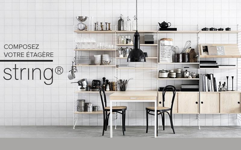 String Estantería de cocina Muebles de cocina Equipo de la cocina   