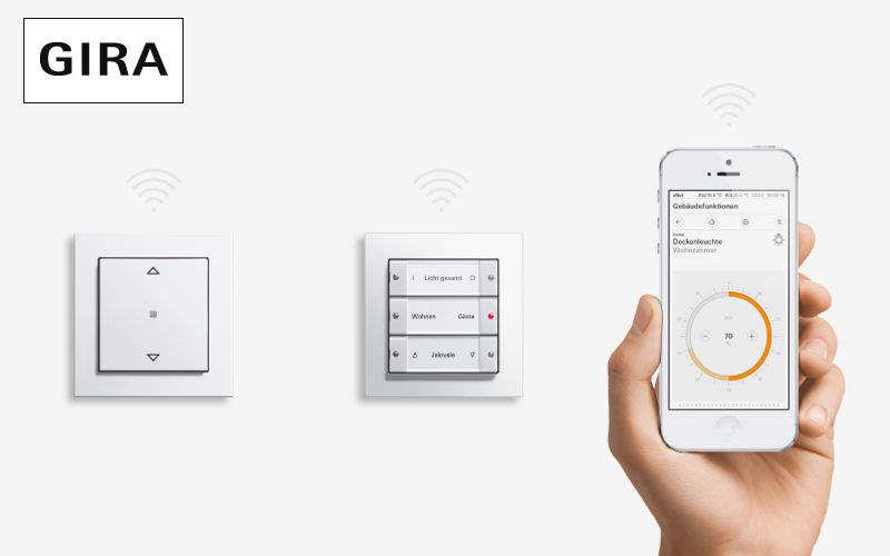 Gira Pantalla táctil de automatización Control remoto Automatización doméstica  |