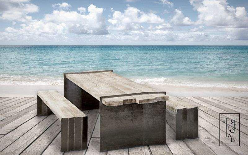 FERROLAB Mesa de picnic Mesas de jardín Jardín Mobiliario  |