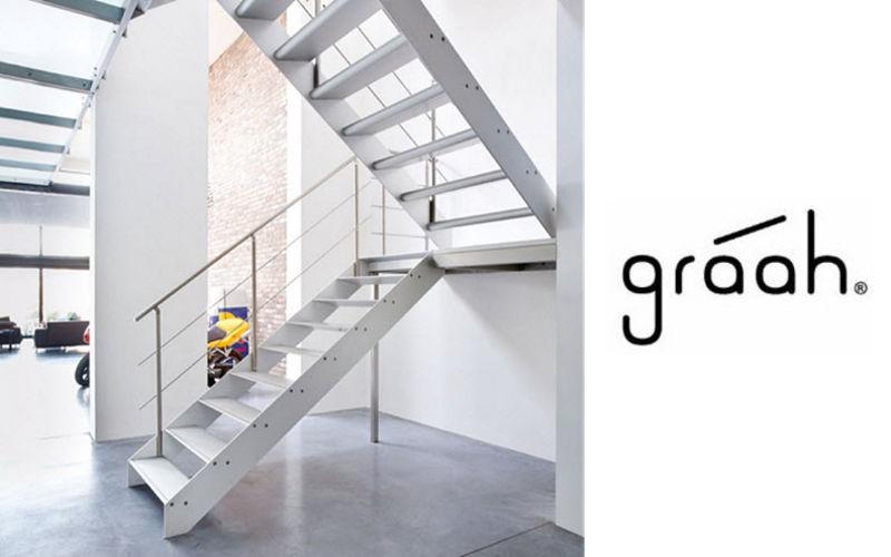 GRAAH Escalera con tramo curvo Escaleras/escalas Equipo para la casa  |
