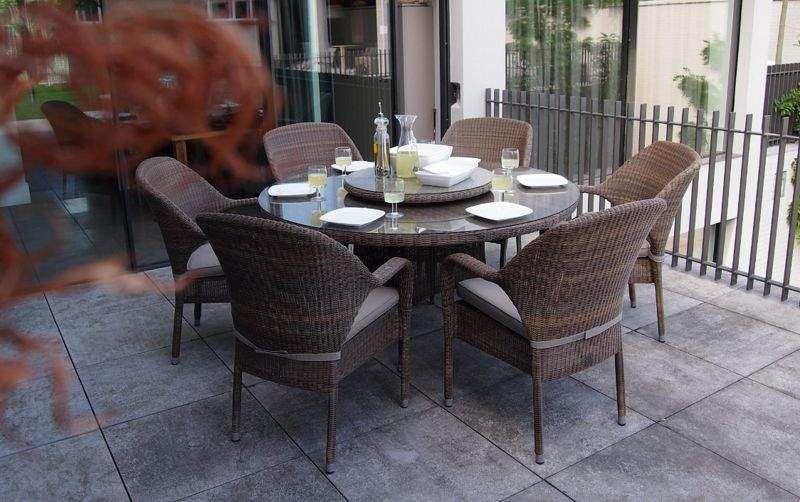 4 SEASONS OUTDOOR Comedor de exterior Mesas de jardín Jardín Mobiliario  |