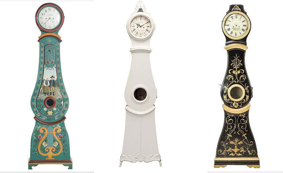 Gustavian Reloj de pared caja alta Relojes, péndulos & despertadores Objetos decorativos  |