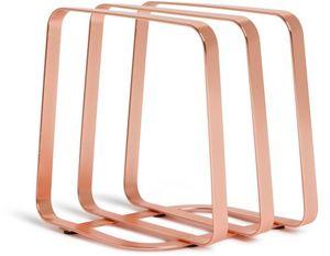 Umbra - porte serviettes design pulse cuivre - Toallero