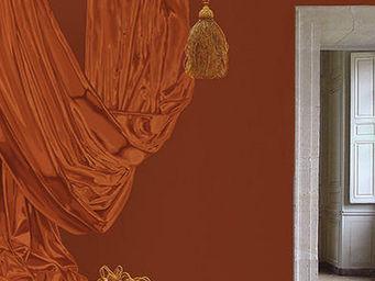 ATELIER MARETTE - draperie tuile, brick-red, ziegelrot - Papel Pintado Panor�mico