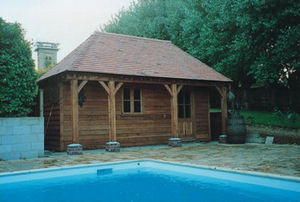 Courtyard Designs Pool house