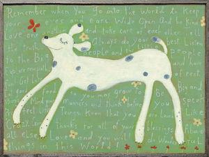 Sugarboo Designs - art print - large girl dog - Cuadro Decorativo