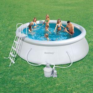 Bestway - piscine fast set pools - 457 x 122 cm - Piscina Autosustentadora