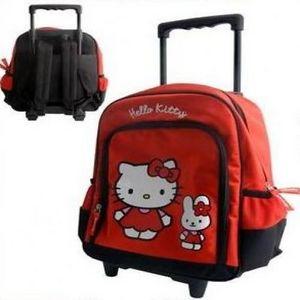 HELLO KITTY - trolley hello kitty rouge - Bolsa Escolar