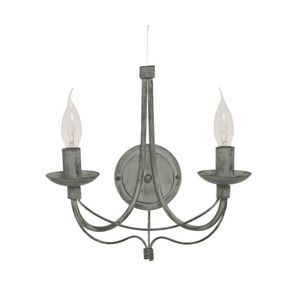 SAMPA HELIOS - cavalier - applique double gris h35cm | applique s - Lámpara De Pared