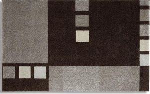 WHITE LABEL - samoa design tapis patchwork gris - 160x230 cm - Alfombra Contemporánea