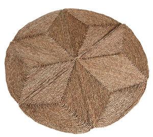 Aubry-Gaspard - tapis rond en jonc 150 cm diamètre 150cm - Alfombra Contemporánea