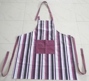 ITI  - Indian Textile Innovation - stripes - maroon - Delantal De Cocina
