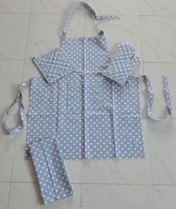 ITI  - Indian Textile Innovation - dots - grey - Delantal De Cocina