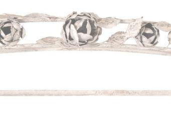 Antic Line Creations - ciel de lit en métal les roses - Cielo De Baldaquino