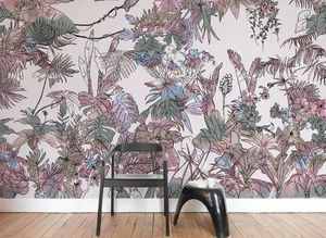 Ohmywall - jungle tropical multicolore - Papel Pintado Panorámico
