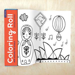 BERTOY - coloring roll around the world - Cuaderno Para Colorear