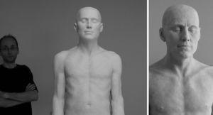 ART DECO CERAM - nu masculin - Escultura