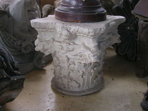 507 ANTIQUES - stone corinthian capital   - Capitel