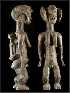 Arts Africains - statue maternite lu me - Estatua