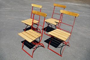 L'atelier tout metal - 4 chaises de jardin pliantes en fer - Silla De Jardín Plegable