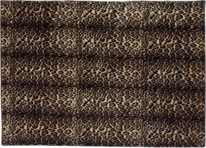 Winter Home - leopard - Alfombra Contemporánea
