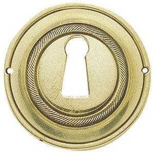 FERRURES ET PATINES - entree de tiroire ronde en bronze style regional p - Chapa De Cerradura Para Cajón