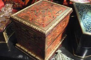 Art & Antiques - coffret à senteur en marqueterie boulle toutes fac - Estuche Para Perfume