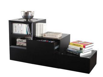 Miliboo - u2ydd rangement 4 tiroirs 1 vc noir - Mueble Escalera