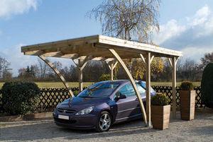 JARDIPOLYS - carport 1 voiture avec toit plat 320x510x259cm - Cobertizo De Coche Carport