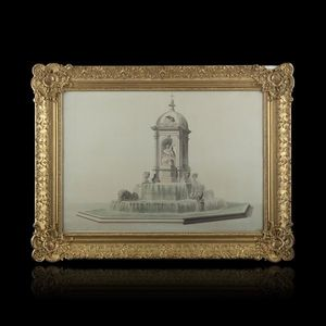 Expertissim - louis tullius visconti. projet de la fontaine des  - Dibujo Con Tinta