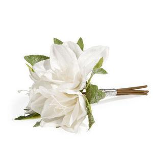 Maisons du monde - bouquet amaryllis glacée - Flor Artificial