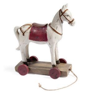 Maisons du monde - cheval à roulettes mégève - Juguete De Madera