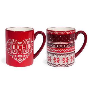 Maisons du monde - assortiment de 6 mugs jacquard - Taza