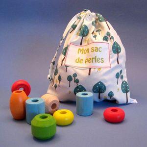 LITTLE BOHEME - sac de perles personnalisable sous-bois en coton b - Juguete De Madera