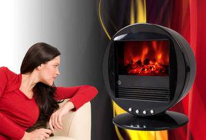 CHEMIN'ARTE - cheminée oscillante design fire bowl noire 40x30x3 - Chimenea Eléctrica