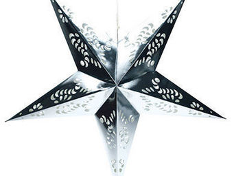 Blachere Illumination - �toile argent en papier - Decoraci�n De �rbol De Navidad