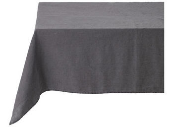 Athezza Home - nappe lin lav� anthracite 150x150cm - Mantel Rectangular