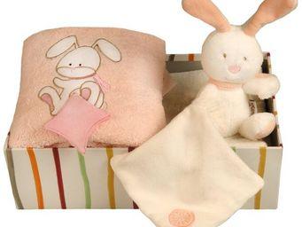 SIRETEX - SENSEI - coffret doudou lapin rose - Coffre De Regalo Para Bebé