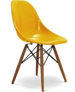 Charles & Ray Eames - chaise jaune design eiffel sw charles eames lot de - Silla De Recepción