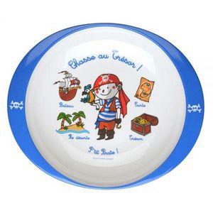 La Chaise Longue - assiette melamine p'tits pirates - Plato Para Bebé