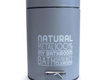 Cm - poubelle 3l natural grise - Papelera De Cuarto De Ba�o