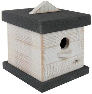 ZOLUX - nichoir pour oiseaux boréal en bois blanc 13,5x16, - Casa De Pájaros