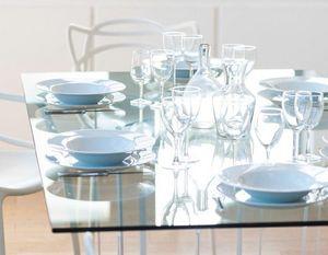David Lange - cristal - Mesa De Comedor Rectangular