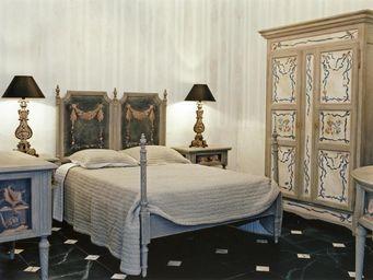 PROVENCE ET FILS - lit coquillages / couchage 160 x 200 / s�rigraphie - Cama De Matrimonio