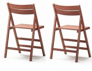 WHITE LABEL - lot de 2 chaises pliantes robert noyer - Silla Plegable