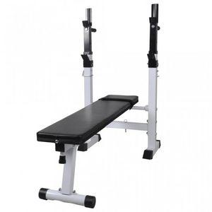 WHITE LABEL - banc de musculation pliable pour abdominaux - Banco De Musculación