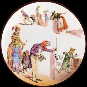 Au Bain Marie - le monde renversé - Plato Decorativo