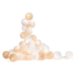 LA CASE DE COUSIN PAUL - uyuni - coffret guirlande lumineuse blanc/crème 2, - Guirnalda Luminosa